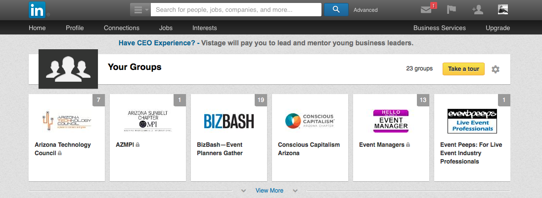 Linkedin, Eventinterface
