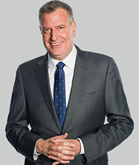 New York City Mayor Bill De Blasio at Eventinterface