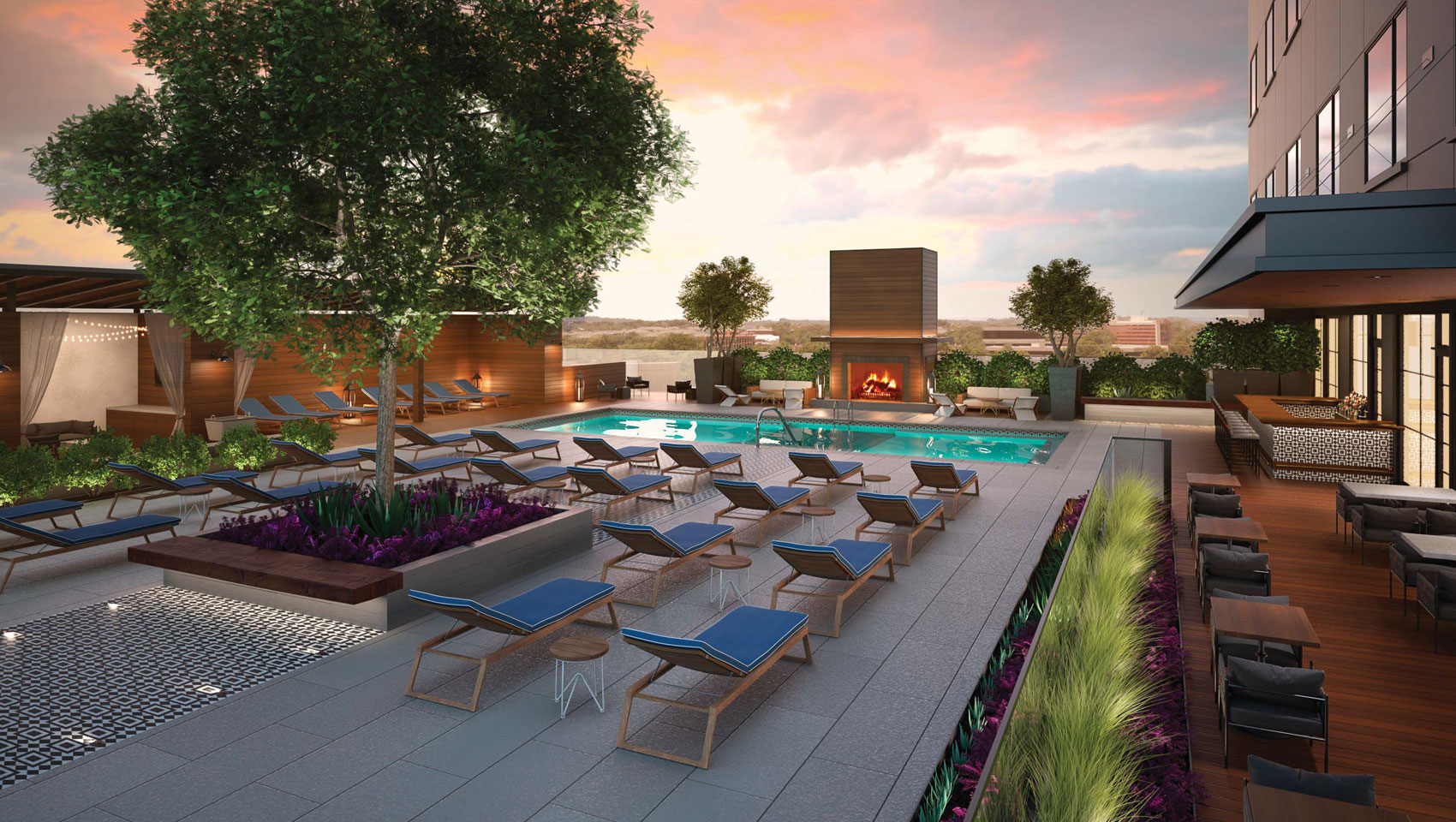 Hotel Van Zandt for pool side events