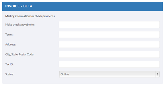 Eventinterface attendee invoice set-up