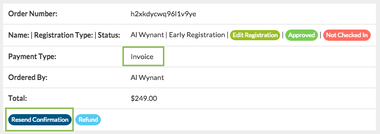 Eventinterface Attendee Invoice Sample