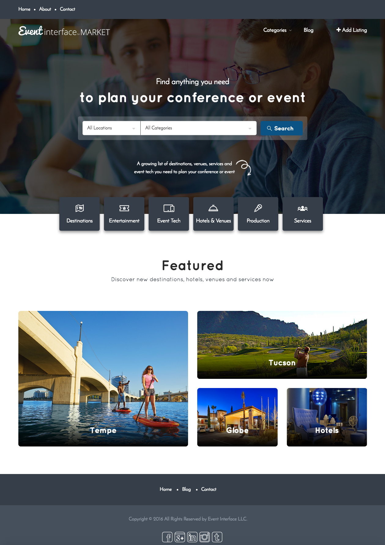 Eventinterface Market, free tools for meeting and event planners