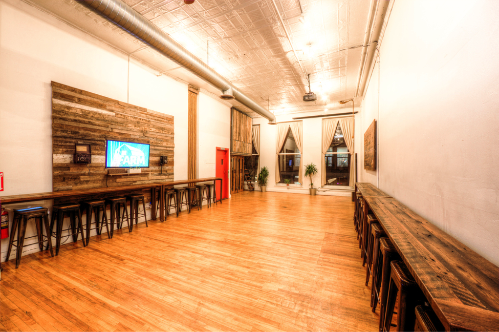 NYC-based The Farm coworking space for events featured on Eventinterface