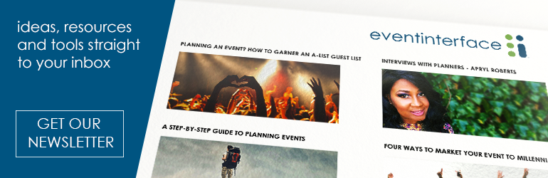 Eventinterface Newsletter Sign Up for meeting and event planners